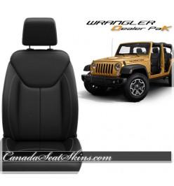 Jeep Wrangler JK Black Leather Seat Kit