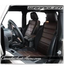 2007 - 2012 Jeep Wrangler Katzkin in Black with Espresso