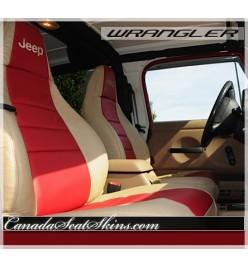 1997 - 2006 Jeep Wrangler Katzkin Leather Seats