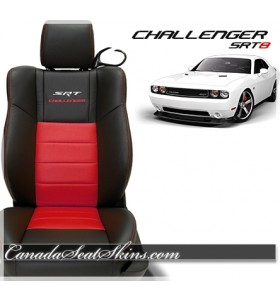 2011 - 2014 Dodge Challenger SRT8 Red Katzkin Leather