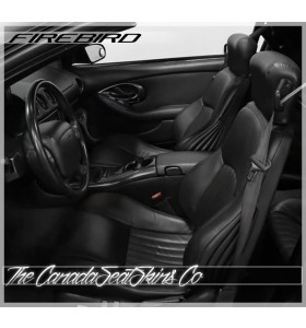1997 - 2002 Pontiac Firebird Transam Katzkin Black Leather Seats