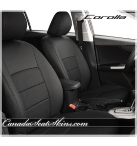 2009 - 2013 Toyota Corolla Black Leather Seats
