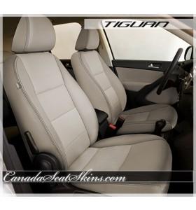 2009 - 2014 Volkswagen Tiguan Katzkin Vanilla Piped Leather Interior