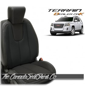 2010 - 2017 GMC Terrain Black Wholesale Replacement Leather Seat Kit