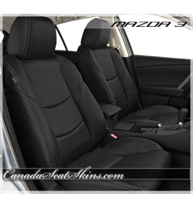 2010 - 2013 Mazda3 Black Katzkin Leather Seats