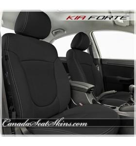 2011 - 2013 Kia Forte Black Katzkin Leather Seats