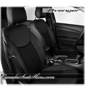 2011 - 2014 Dodge Avenger Katzkin Black with Raven Leather Seats