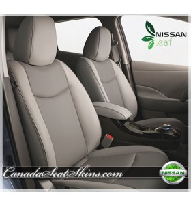 2011 - 2015 Nissan Leaf Tan Katzkin Leather Seats