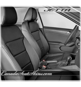 2011 - 2015 Volkswagen Jetta Black Leather Seats