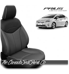 2012 - 2013 Toyota Prius Limited Edition Charcoal Black Katzkin Leather Seat Sale
