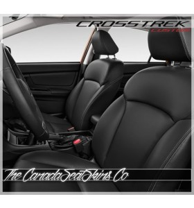 2013 - 2017 Subaru Crosstrek Black Katzkin Custom Leather Seat Sale