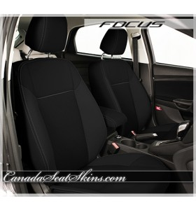 2015 - 2018 Ford Focus Katzkin Black Suede Leather Interior