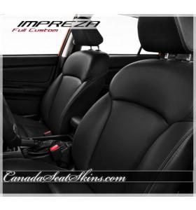2012 - 2016 Subaru Impreza Black Leather Seats