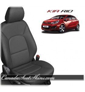 2012 - 2017 Kia Rio Katzkin Black Leather Seats