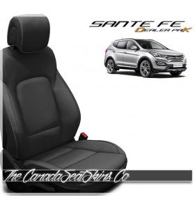 2013 - 2018 Hyundai Santa Fe Dealer Pak Replacement Leather Seat Kit in Black