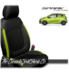 2013 - 2021 Chevrolet Spark Katzkin Custom Electric Lime Leather Seat Sale
