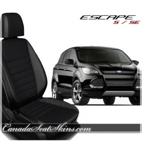 2013 - 2016 Ford Escape Black with Raven Suede Centers