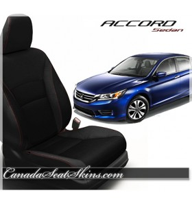 2013 - 2015 Honda Accord Sedan Katzkin Black Leather Seats