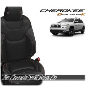 2014 - 2017 Jeep Cherokee Dealer Pak Leather Upholstery Kits