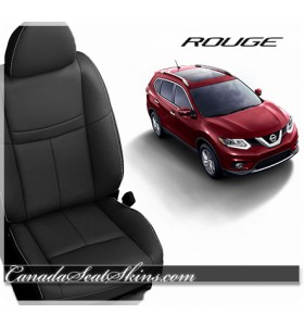 2014 - 2019 Nissan Rogue Black Katzkin Leather Seats