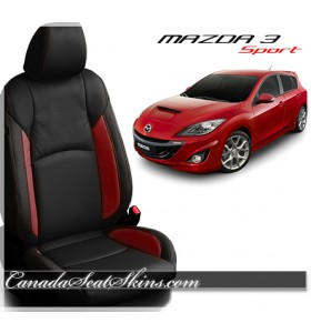 2014 - 2018 Mazda 3 Sport Black Katzkin Leather Seats