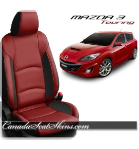 2014 - 2018 Mazda 3 Touring Red Katzkin Leather Seats