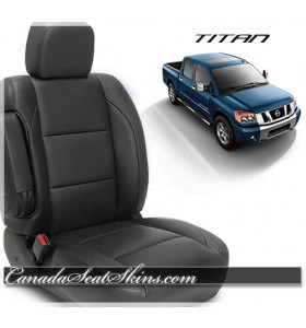 2004 - 2015 Nissan Titan Katzkin Black Leather Seats