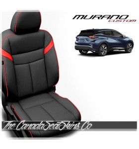 2015-2020 Nissan Murano Black and Red Custom Katzkin Leather Seats