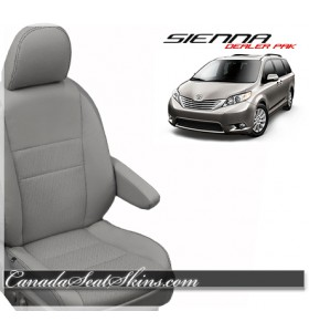 2015 - 2016 Toyota Sienna Katzkin Leather Seat Covers