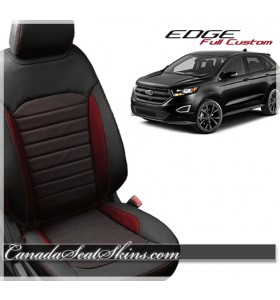 2015 - 2019 Ford Edge Katzkin Custom Red Leather Seats