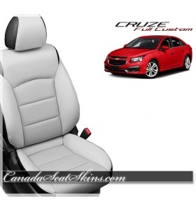 2011 - 2015 Chevrolet Cruze Katzkin Leather Seats White