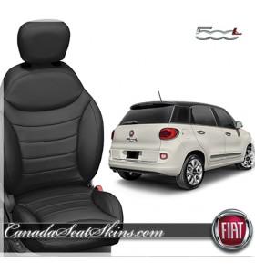 2015 - 2018 Fiat 500L Black Leather Seats