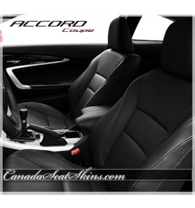 2013 - 2015 Honda Accord Coupe Katzkin Black Leather Seats