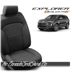 2016 - 2019 Ford Explorer Dealer Pak Leather Seat Conversion In Black