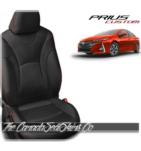 2016 - 2021 Toyota Prius Katzkin Custom Black Leather Seat Sale