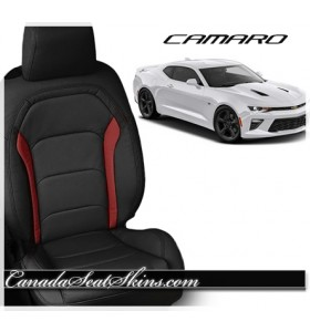 2016 - 2019 Chevrolet Camaro Red Custom Katzkin Leather Seats