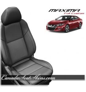 2016 Nissan Maxima Black Katzkin Leather Seats