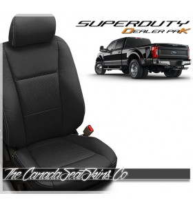 2017 - 2021 Ford F250 F350 F450 F550 Katzkin Black Leather Seat Promotion