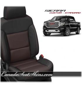 2014 - 2018 GMC Sierra Barracuda Red Katzkin Leather Seats