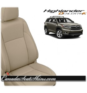 2017 2018 2019 Toyota Highlander Katzkin Leather Vanilla