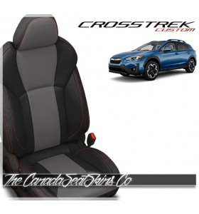 2018 - 2021 Subaru Crosstrek Katzkin Black Ash Custom Leather Seats