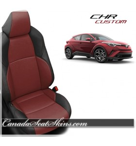 2019 Toyota CH-R Katzkin Black with Medium Red Leather Seats