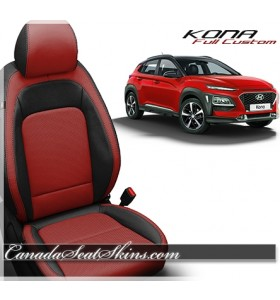 2018 - 2019 Hyundai Kona Katzkin Red Leather Seats