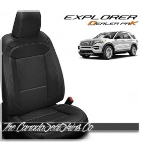 2020 Ford Explorer Katzkin Dealer Pak Leather Seat Conversion In Black