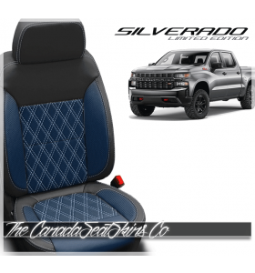 2019 - 2021 Chevrolet Silverado Designer Diamond Stitched Leather Interiors