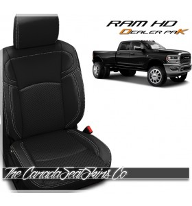 2019 - 2021 Ram HD 2500 3500 Katzkin Leather Seat Promo Package Black