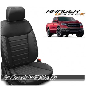 2019 - 2021 Ford Ranger Black Katzkin Dealer Pak Leather Upholstery Promotion
