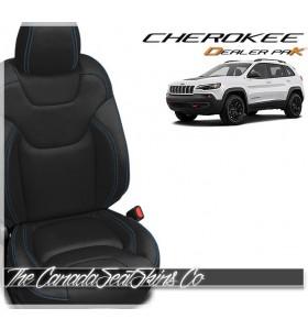 2019 - 2021 Jeep Cherokee Katzkin Dealer Pak Leather Upholstery Kits