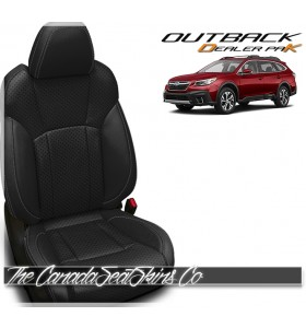2020 - 2021 Subaru Outback Katzkin Black Dealer Pak Leather Seat Promotion