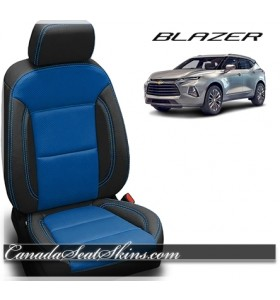 2019 Chevrolet Blazer Black Leather Seats with Cobalt Body Design